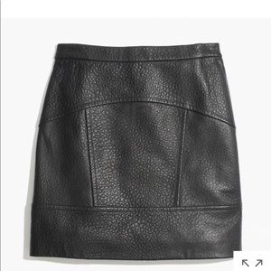 Mad well plearhed leather skirt NWOT
